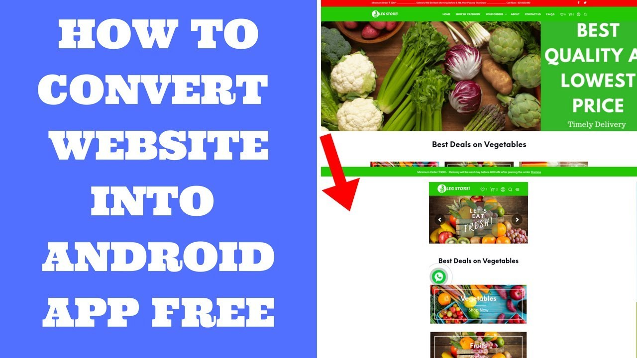 How To Convert Website to Android App Free | Gadget Gyani