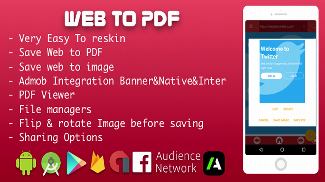 Web to PDF Converter With Admob , Facebook Network ads and Startapp 2018   Codecanyon Scripts and
