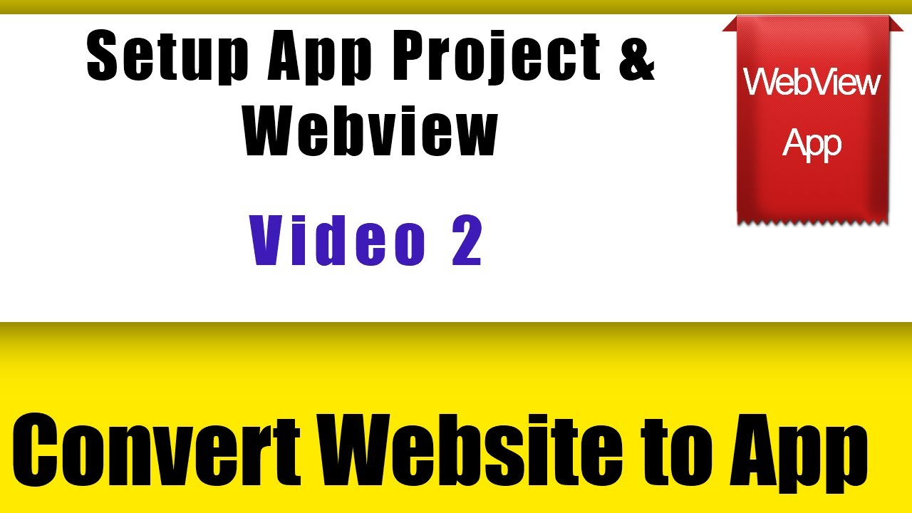 How to Create a Project in Android Studio | Convert Website to Mobile App | web2apk | Android Studio
