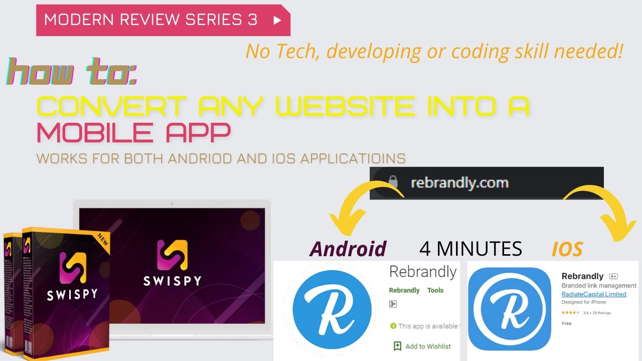 How to convert website to app – Convert any website to Android app or IOS in 4 minutes!