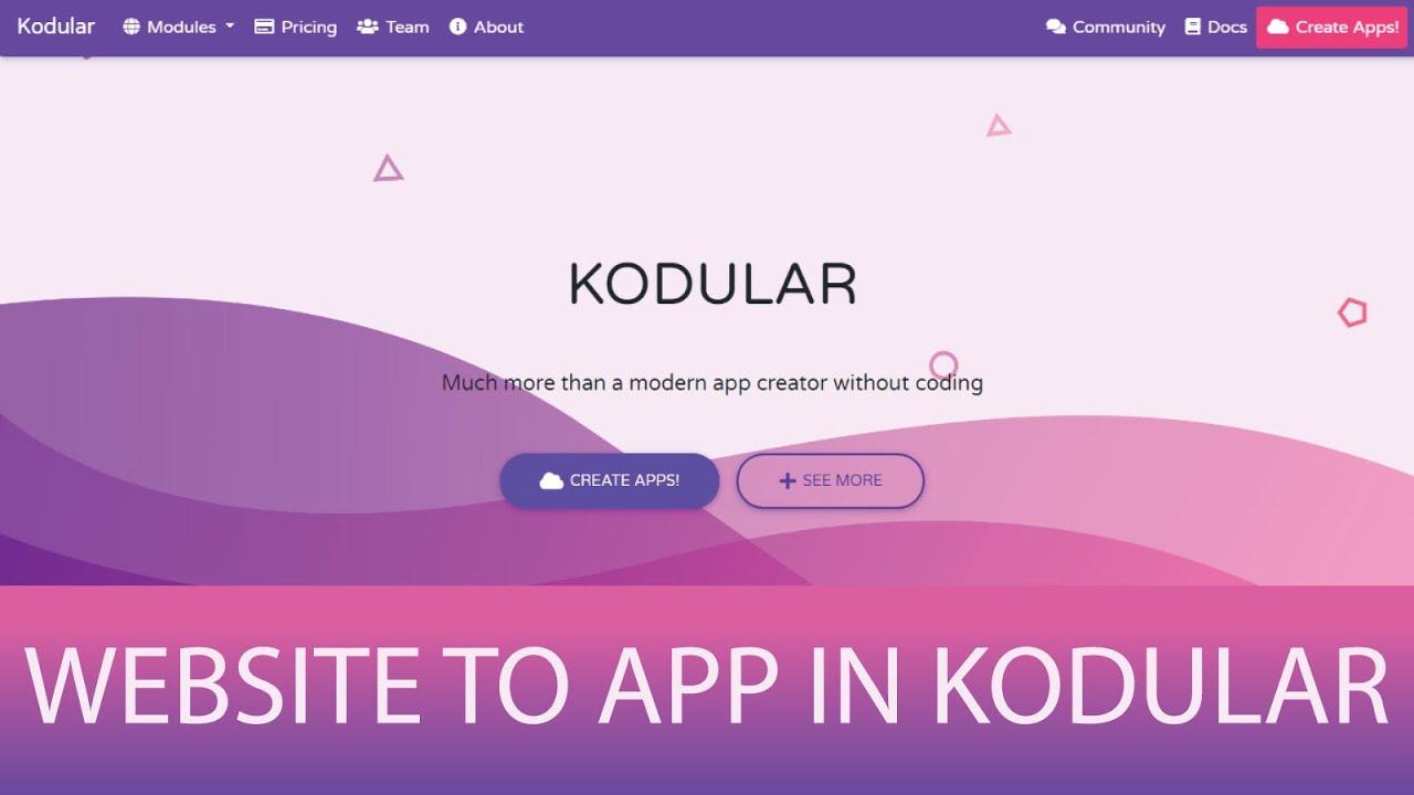 How To Convert Website To App In Kodular | Kodular
