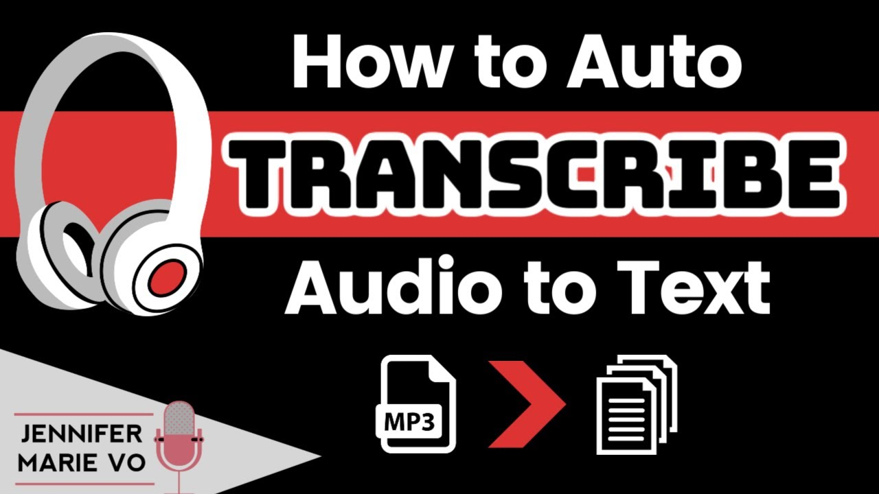 How To Transcribe Audio To Text Automatically for FREE (and convert video recordings to text too!)