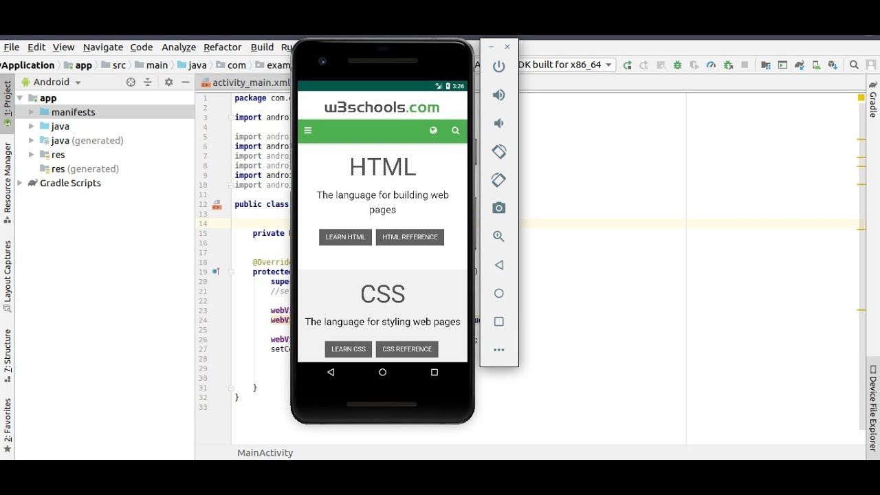 Convert Website to an Android app  -Tutorial – 04