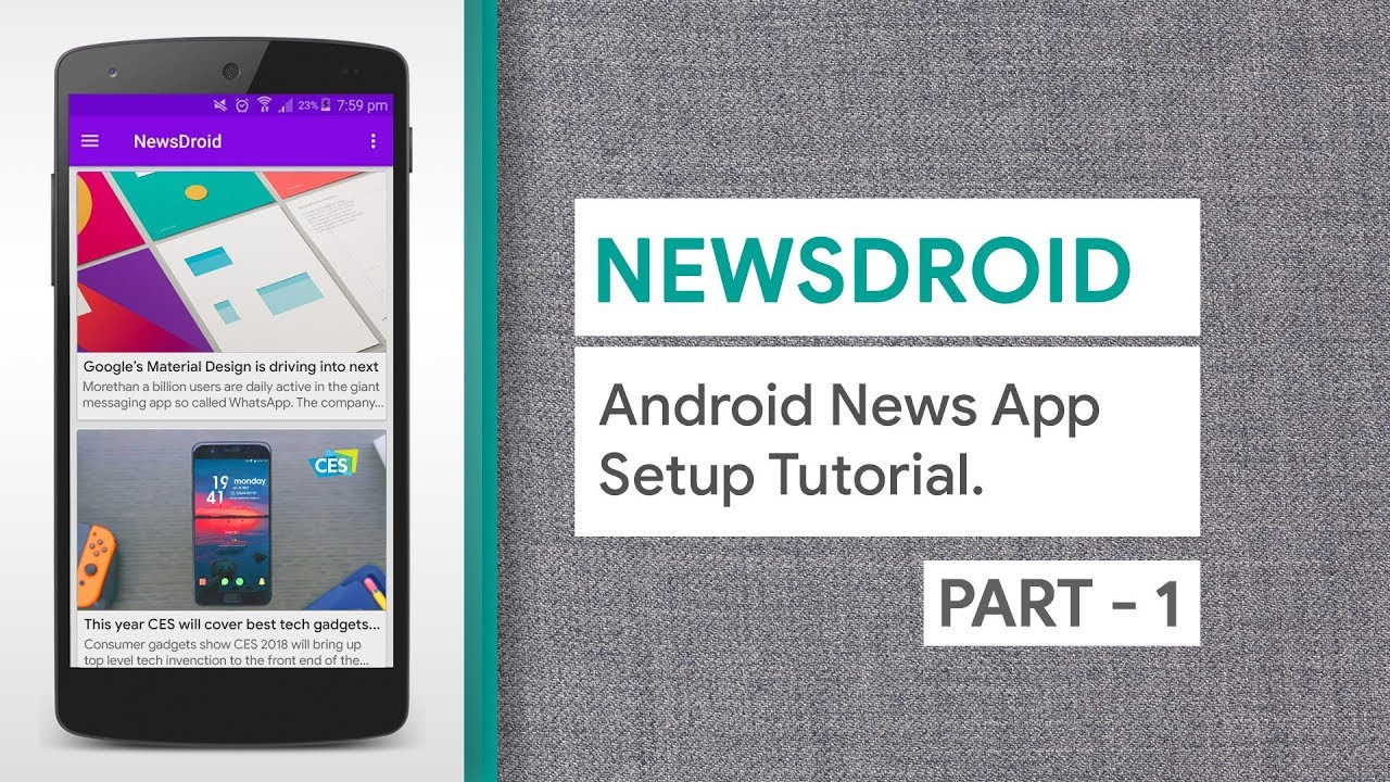NewsDroid – Android Multipurpose News App with Automatic Push Notification – Setup Part 1