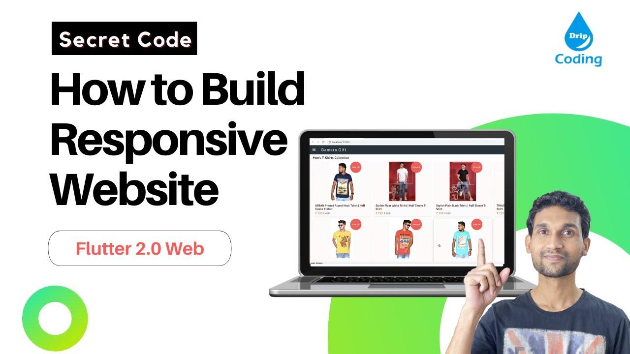 Flutter Web – Secret Code to build Responsive Flutter Website within 10 minutes
